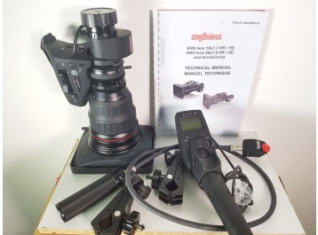 Angenieux T26x7.8 BESMD HD +remotes new / neuf